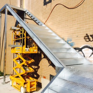Steel Stair Install